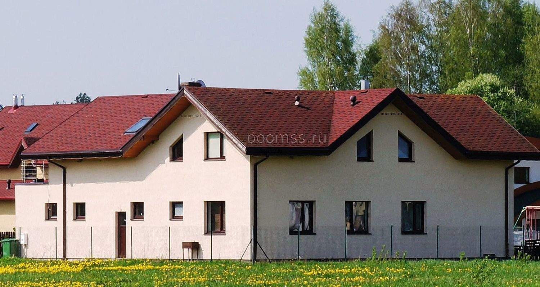 Дом из пеноблока штукатурка фасада