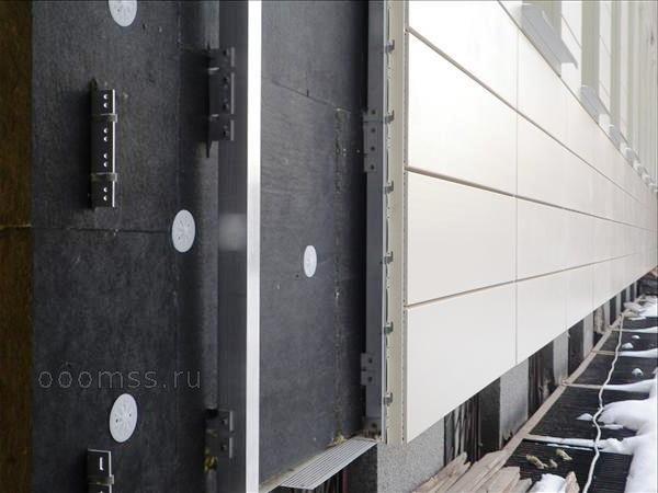 Утепление вентилируемого фасада отделка Ethetnit